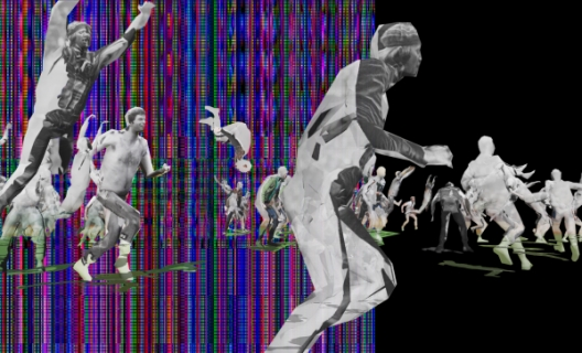 Nicolas Gourault, Turba 2021, vidéo générative © Nicolas Gourault
